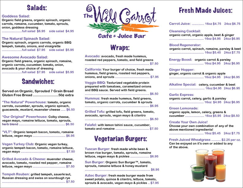 Our menu page 2